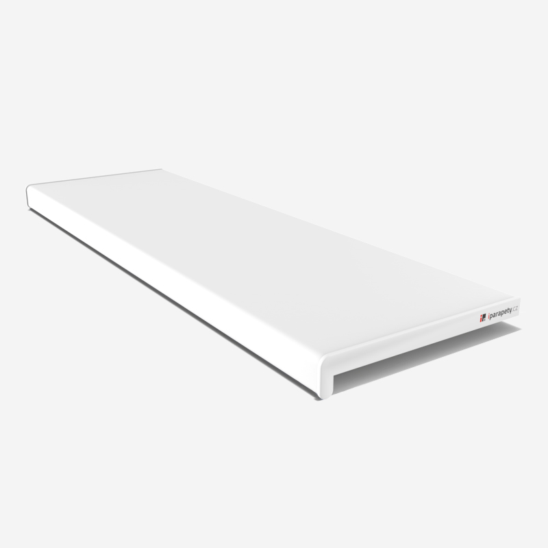Vnitřní parapet PVC 200 mm, nos 40 mm, Bílý
