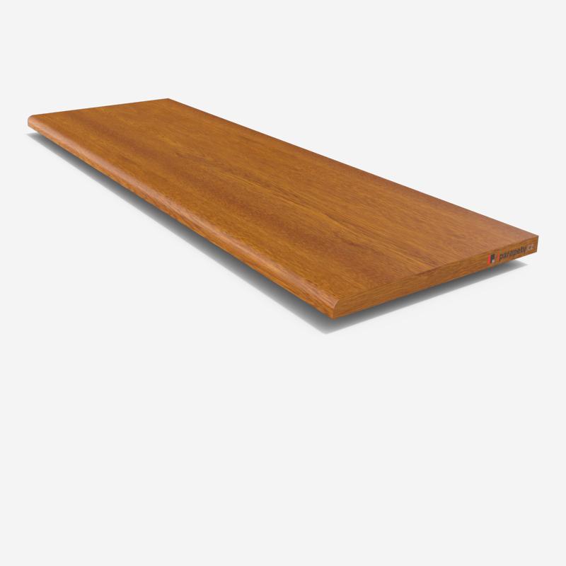 Vnitřní parapet dřevotřískový 150 mm, bez nosu, Zlatý dub